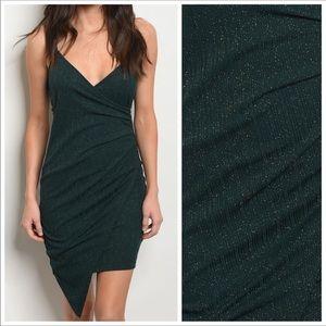 Dresses & Skirts - Hunter Green Metallic Bodycon Dress.